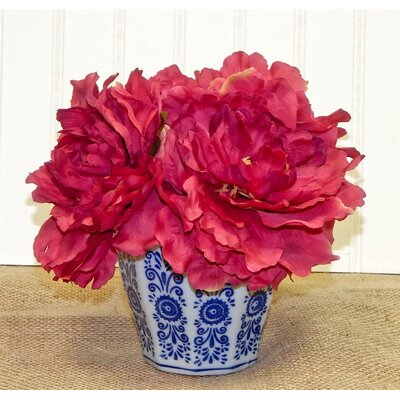 Moffett Peony Centerpiece Color: Red