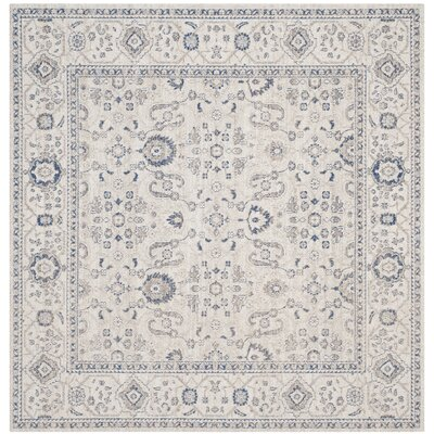 Nielsen Gray/Ivory Area Rug Rug Size: Square 4
