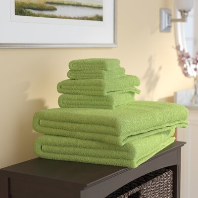 Ridgway 6 Piece Towel Set Color: Lime