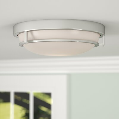 Gambrell 2-Light Flush Mount Finish: Brass Nickel