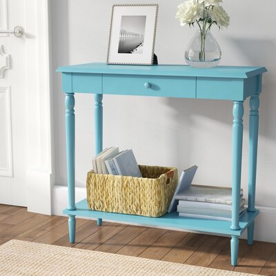 Carlisle Console Table Finish: Blue