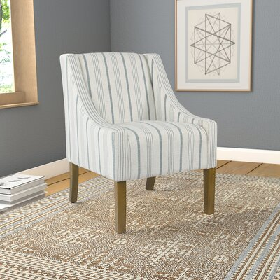 Londonshire Swoop Armchair Upholstery: Blue/Cream