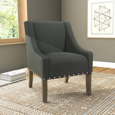 Londonshire Solid Swoop Armchair Upholstery: Dark Charcoal