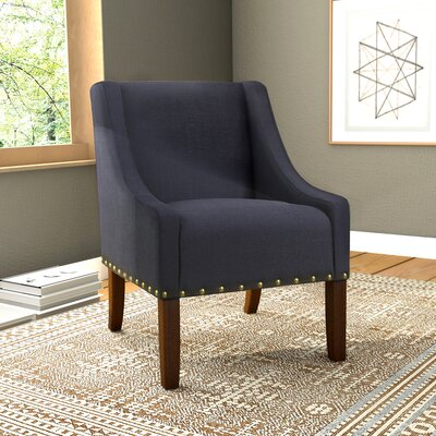 Londonshire Solid Swoop Armchair Upholstery: Deep Navy