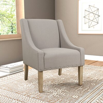 Londonshire Solid Swoop Armchair Upholstery: Tan