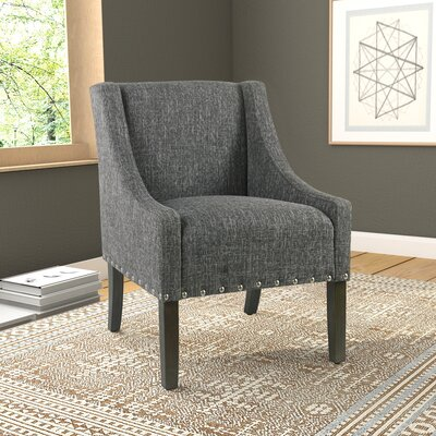 Londonshire Solid Swoop Armchair Upholstery: Slate Gray