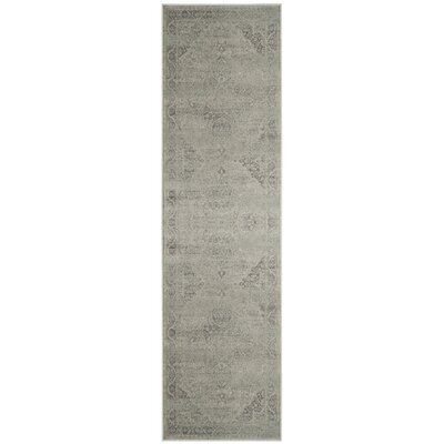Frith Silver Area Rug Rug Size: Runner 22 x 12