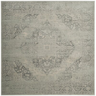 Frith Silver Area Rug Rug Size: Square 6