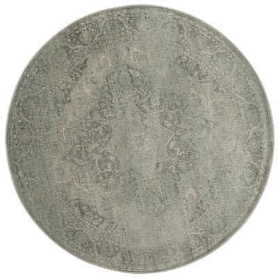 Frith Silver Area Rug Rug Size: Round 6'