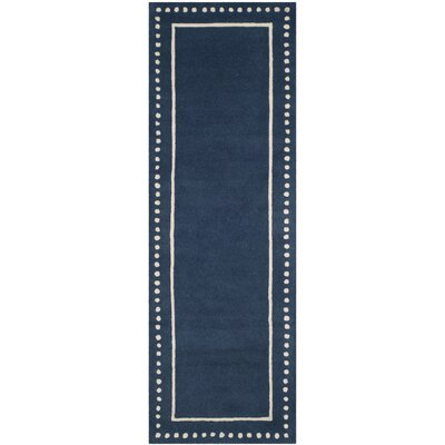 Amundson Hand-Tufted Navy Blue Indoor Area Rug Rug Size: Runner 23 x 7