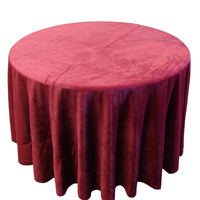 Anthem Round Tablecloth Color: Burgundy, Size: 90