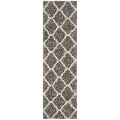 Buford Gray/Ivory Area Rug Rug Size: Runner 23 x 8