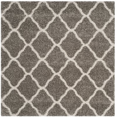 Buford Gray/Ivory Area Rug Rug Size: Square 7