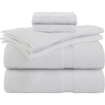 Liam 6 Piece Towel Set Color: Optical White