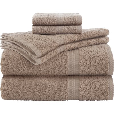 Elias 6 Piece Towel Set Color: Linen