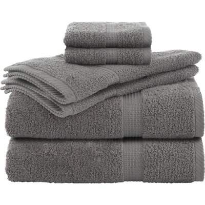 Liam 6 Piece Towel Set Color: Monument Gray