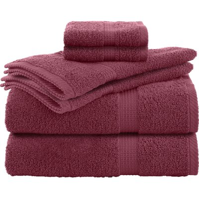 Liam 6 Piece Towel Set Color: Soft Red