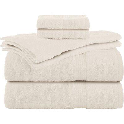 Liam 6 Piece Towel Set Color: Ecru