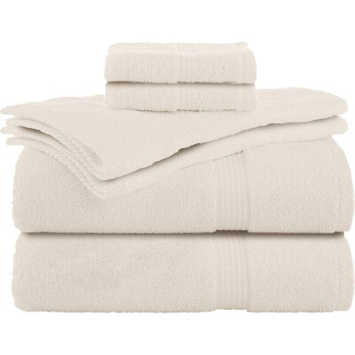 Elias 6 Piece Towel Set Color: Ecru
