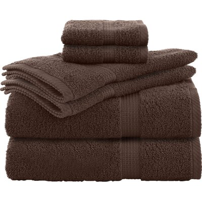 Liam 6 Piece Towel Set Color: Demitasse