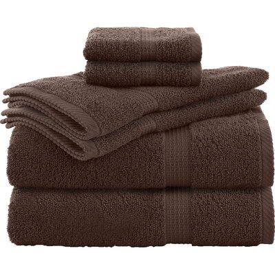 Elias 6 Piece Towel Set Color: Demitasse