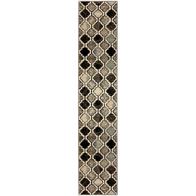 Annawan Brown/Gray Area Rug Rug Size: Runner 2 x 11