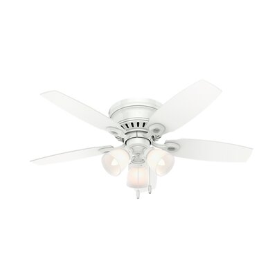 46 Hatherton 5-Blade Ceiling Fan Finish: Snow White