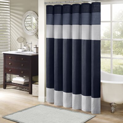 Berardi Shower Curtain Size: 72 W x 72 H, Color: Navy
