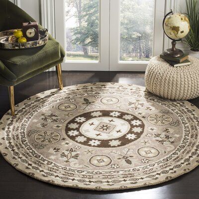 Amundson Hand Tufted Area Rug Rug Size: Square 5