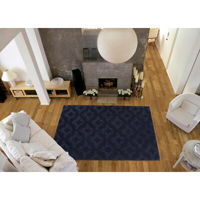 Spafford Blue Area Rug Rug Size: Square 12