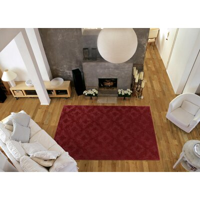 Spafford Red Area Rug Rug Size: Square 12