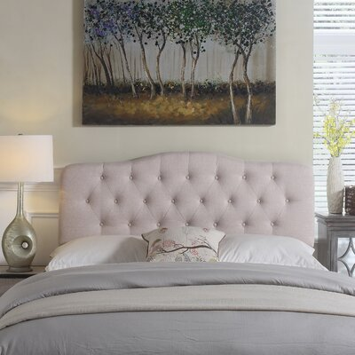 Charlottesville Upholstered Panel Headboard Color: Beige, Size: Queen
