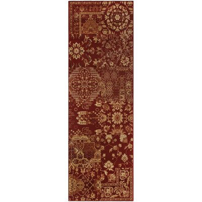 Callicoon Red Area Rug Rug Size: Runner 27 x 8