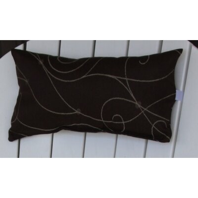 Lamothe Adirondack Chair Outdoor Lumbar Pillow with Velcro Strap Color: Brown