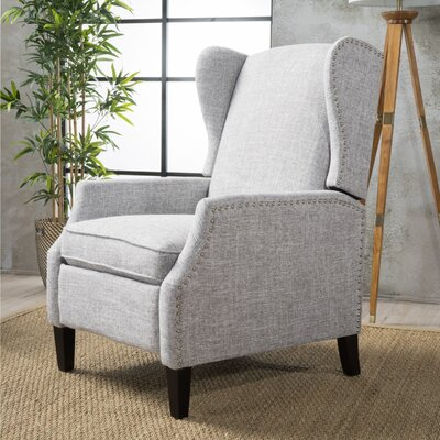 Recliner Upholstery: Light Gray