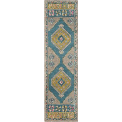 Robbins Southwestern Lime Area Rug Rug Size: Rectangle 5 x 76