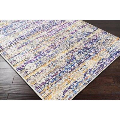 Walferdange Floral Sky Blue/Cream Area Rug Rug Size: 311 x 57