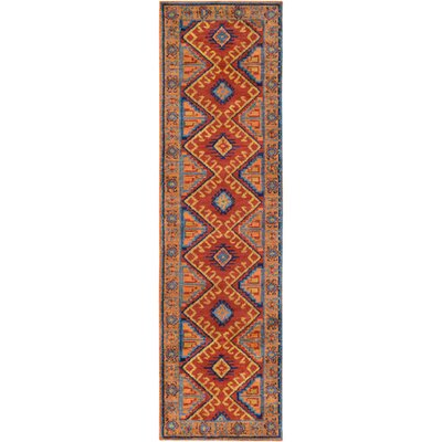 Robbins Bright Orange Area Rug Rug Size: 4 x 6