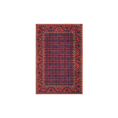 Robbins Southwestern Bright Red Area Rug Rug Size: Rectangle 4 x 6