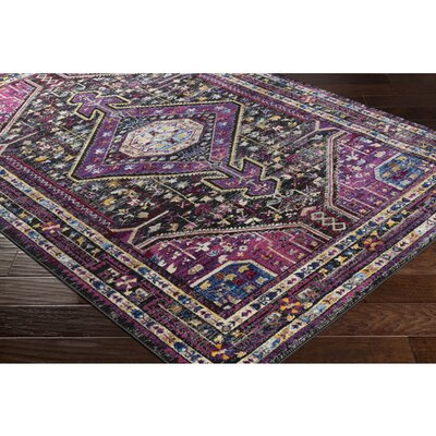 Walferdange Bright Pink Area Rug Rug Size: Rectangle 93 x 121