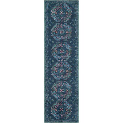 Robbins Navy Area Rug Rug Size: Rectangle 5 x 76