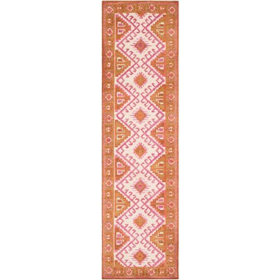 Robbins Southwestern Rose/Ivory Area Rug Rug Size: Rectangle 76 x 96