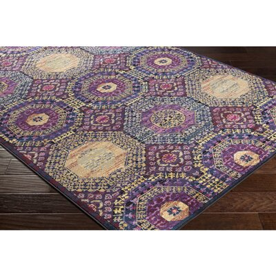 Walferdange Geometric Bright Pink Area Rug Rug Size: Rectangle 93 x 121