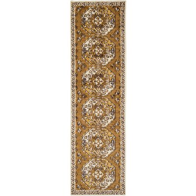 Robbins Dark Yellow Area Rug Rug Size: Runner 2'3