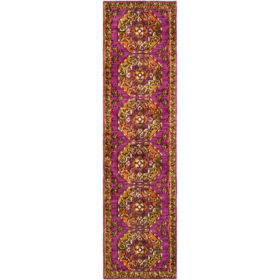 Robbins Lavender/Yellow Area Rug Rug Size: Rectangle 5 x 76