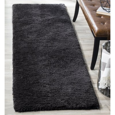 Detweiler Hand-Tufted Charcoal Area Rug Rug Size: Runner 23 x 8