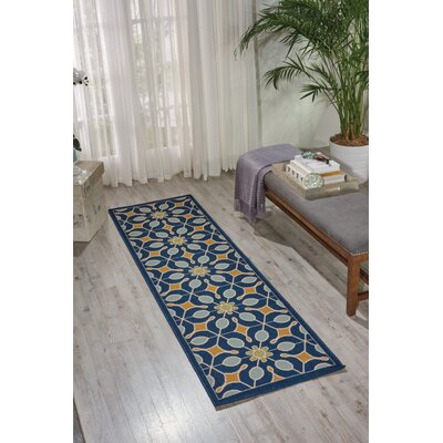 Lewis Navy Indoor/Outdoor Area Rug Rug Size: 23 x 76