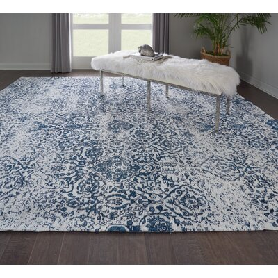 Kleinschmidt Ivory/Navy Area Rug Rug Size: Rectangle 8 x 10