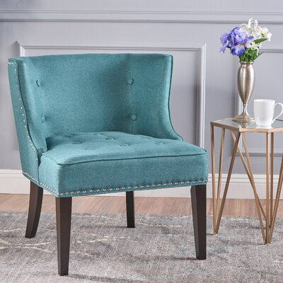 Staas Barrel Chair Upholstery: Dark Teal