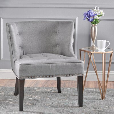 Staas Fabric Occassional Barrel Chair Color: Gray